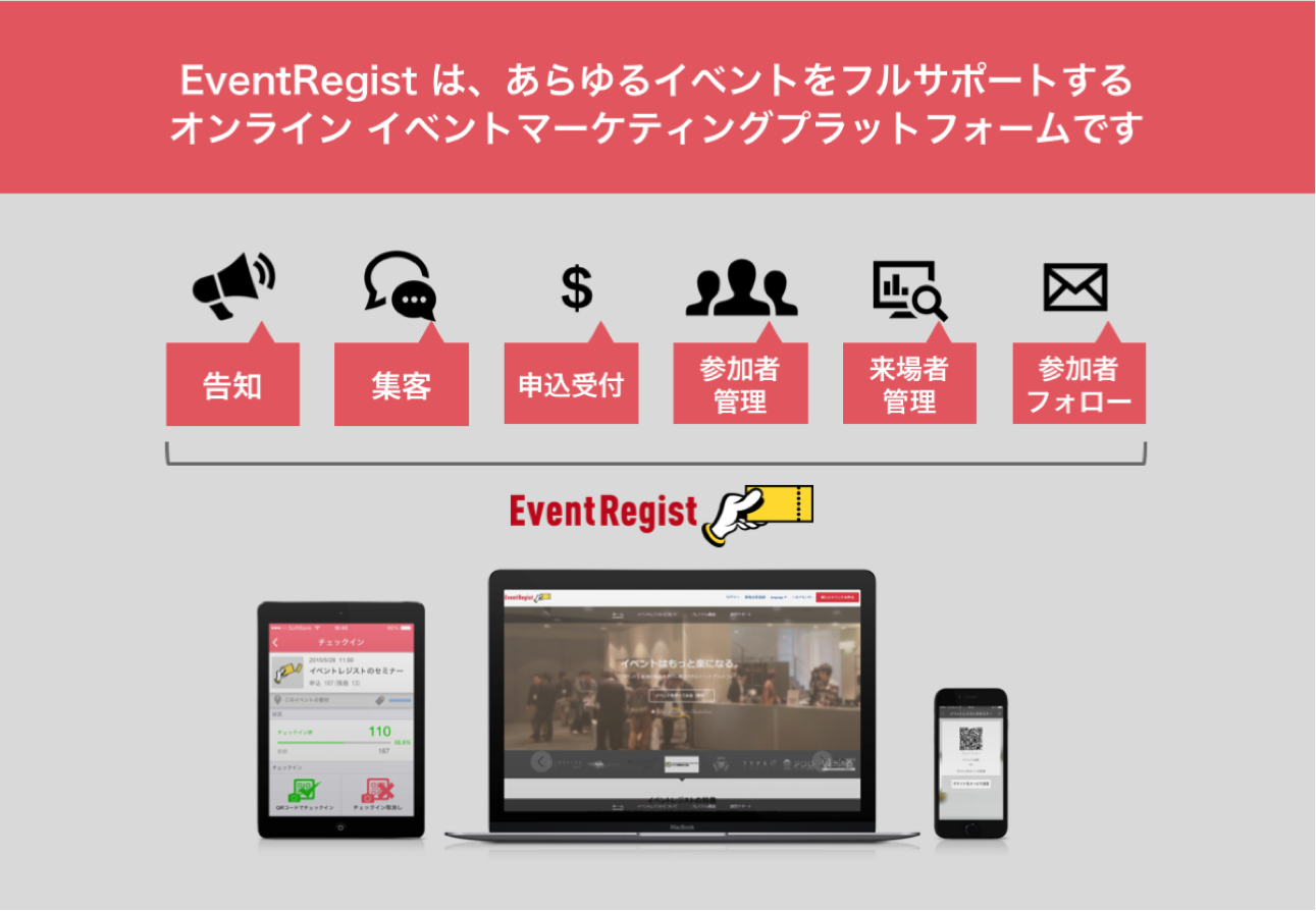 EventRegist オンライン イベント マーケティングプラットフォーム
